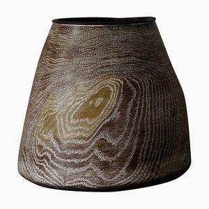 Limed und Oiled Oak Vessel by Fritz Baumann