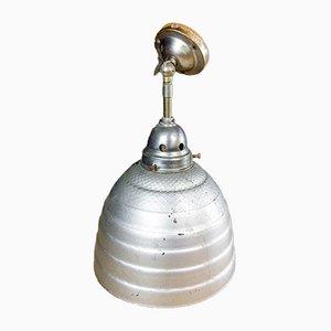 Industrial Mercury Glass Factory Lamp, 1930s