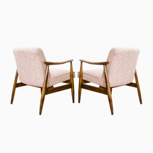 Model GFM 87 Type 300 203 Armchairs by Juliusz Kędziorek for GFM, 1960s, Set of 2