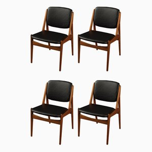 Dining Chairs by Arne Vodder, 1960s, Set of 4