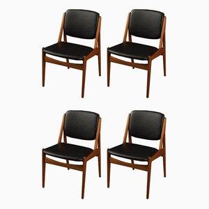 Esszimmerstühle von Arne Vodder, 1960er, 4er Set