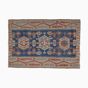 Vintage Turkish Kayseri Kilim with Soft Color