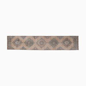 Handgeknüpfter Langer Handgeknüpfter Türkischer Teppich aus Wolle