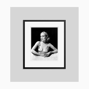 Carole Lombard Archival Pigment Print Framed in Black by Everett Collection