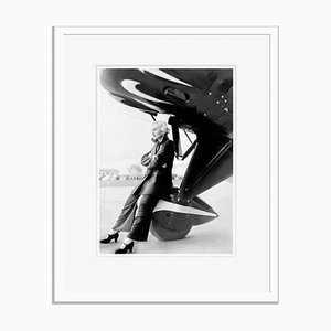 Lombard on a Jumbo Jet Archival Pigment Print Framed in White by Everett Collection