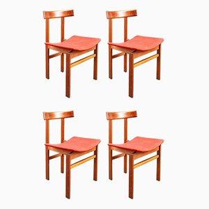 Sedie da pranzo modello 193 di Inger Klingenberg per France & Søn / France & Daverkosen, anni '60, set di 4