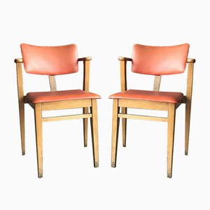 Art Deco Lajos Kozma Style Red Chairs, 1940s, Set of 2