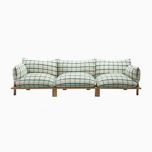 Ash & Fabric Sofa from Saporiti Italia, 1970s