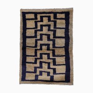 Handwoven Soft Mohair Wool Long Pile Tulu Carpet, 1970s