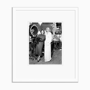 Gloria Swanson Visiting the Set of Bolero Archival Pigment Print Framed in White by Everett Collection