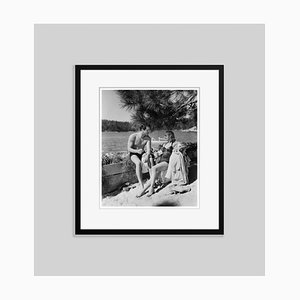 Fred Macmurray & Carole Lombard Archival Pigment Print Framed in Black by Everett Collection