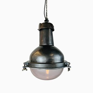 Steel Suspension Ceiling Lamp, 1930s