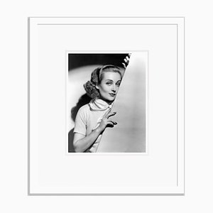 Carole Lombard Studio Shot Archival Pigment Print Framed in White by Everett Collection
