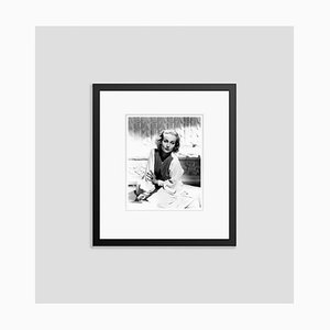Carole Lombard on a Fashion Shoot Archival Pigment Print Framed in Black by Everett Collection