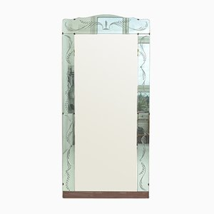 Large Wardrobe Mirror from Fontana Arte, 1940s