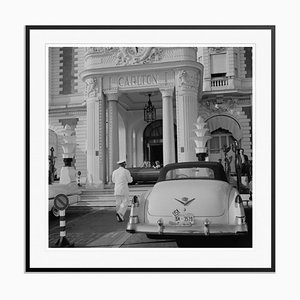 The Carlton Hotel Silver Fibre Gelatin Print Framed in Black by Slim Aarons