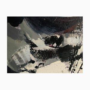 Abstraktes Ölgemälde auf Leinwand von Pralus, 1970er