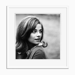 Charlotte Rampling Archival Pigment Print Framed in White by Everett Collection