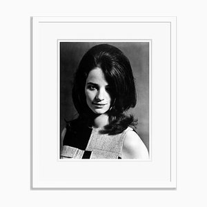 Charlotte Rampling Portrait Archival Pigment Print Framed in White by Everett Collection
