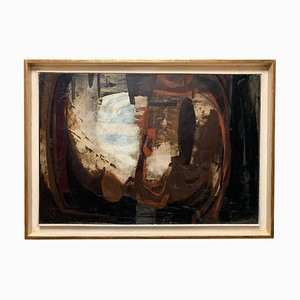 Abstract Painting Oil on Canvas from Èmile Marze, France, 1970s