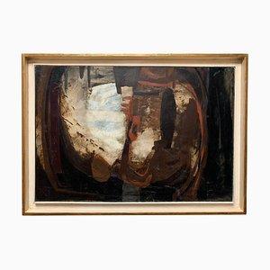 Abstrakte Malerei Öl auf Leinwand von Èmile Marze, 1970er
