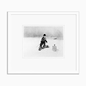 Charlie Chaplin Archival Pigment Print Framed in White