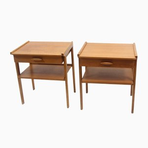 Vintage Danish Bedside Tables with Drawer, 1966, Set of 2
