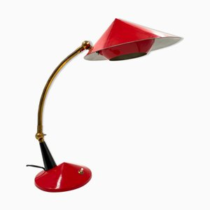 Mid-Century Bright Red Desk Lamp from Stilux Milano, 1960s
