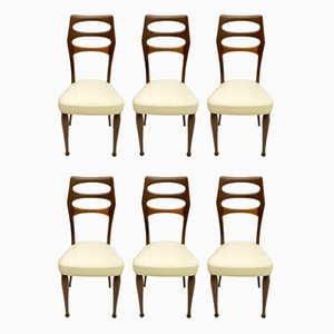 Mid-Century Modern Mahogany Dining Chairs by Vittorio Dassi, 1950s, Set of 6