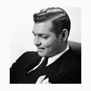Stampa Clark Gable archivion con cornice bianca