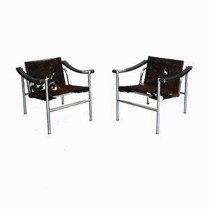 Mid-Century LC1 Sessel von Le Corbusier für Cassina, 1929, 2er Set