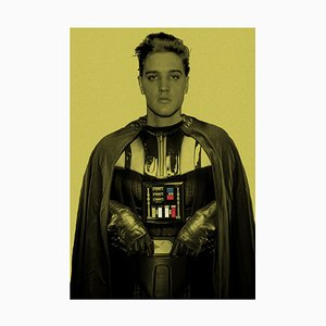 Darth Elvis Framed in Black by Batik