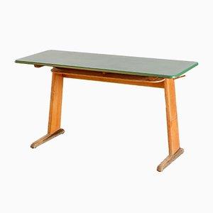 German School Desk with Green Top, 1960s