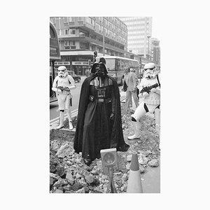 Darth Vader Silver Gelatin Resin Print Framed in White