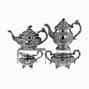 19th Century Irish Solid Silver Tea & Coffee Set by Charles Marsh, 1830s, Set of 4