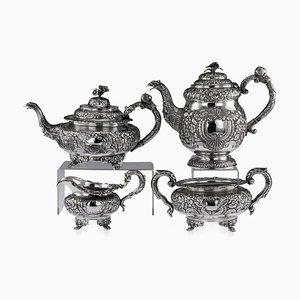 Servizio da tè e caffè Mid-Century in argento massiccio di Charles Marsh, inizio XIX secolo, set di 4