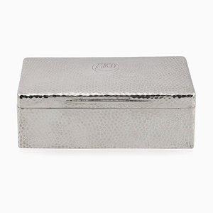 Edwardian Solid Silver Cigar Box by A & J Zimmerman Ltd, Birmingham, 1906