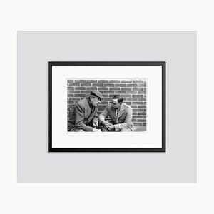 Director John Huston & Marlon Brando on Set 1967 Archival Pigment Print Framed in Black by Everett Collection