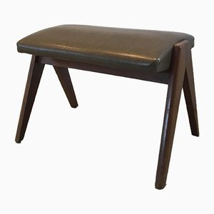 Vintage Stool in the Style of Pierre Jeanneret, 1960s