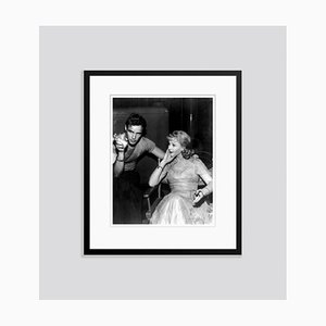 Marlon Brando & Vivien Leigh Smoking on-Set 1951 Archival Pigment Print Framed in Black by Everett Collection