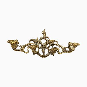 20th-Century French Bronze Wall Mounted Coat Rack