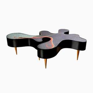 Einzigartiger Niedriger Mosaik Tisch von Katharina Welper, 2014