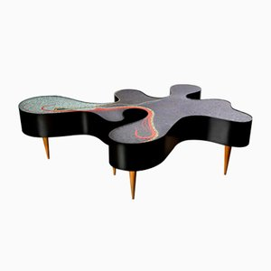 One-of-a-kind Mosaic Low Table by Katharina Welper, Brazil, 2014