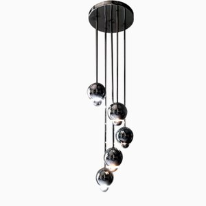 Vintage Chrome Cascading Style Chandelier by Robert Sonneman