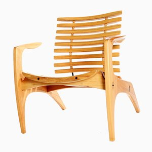 Brazilian Ella Chair in Wood by Henrique Canelas