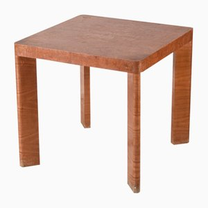 Italian Art Deco Walnut Veneer Square Coffee Table, 1930s