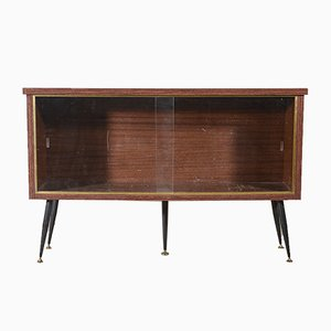 Italian Rosewood Showcase with Sliding Doors, 1960s
