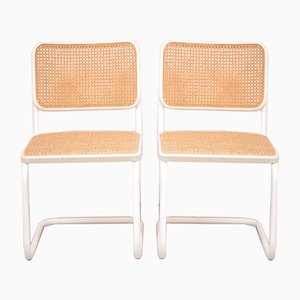S32 Dining Chairs by Marcel Breuer for Thonet, 1986, Set of 2