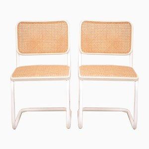 S32 Esszimmerstühle von Marcel Breuer für Thonet, 1986, 2er Set