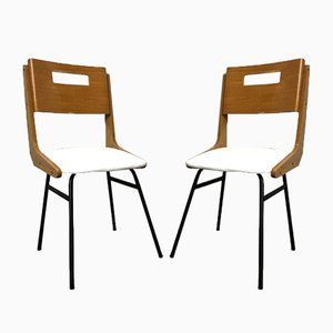 Italian Dining Chairs by Carlo Ratti, 1950s, Set of 2